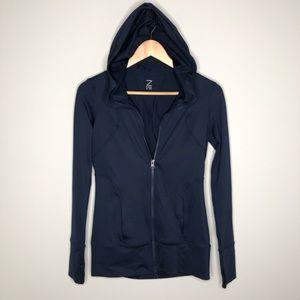 Z by Zella Dark Blue Zip Up Hooded Jacket Size XS